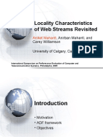 Locality Characteristics of Web Streams Revisited (SPECTS 2005)