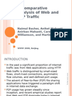 A Comparative Analysis of Web and P2P Traffic (WWW 2008)