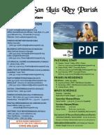 Bulletin for 5-29-2011