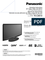 TCL32C12-SPA Manual Televisor Panasonic LCD