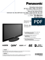 TC26LX14 Manual Televisor Panasonic LCD