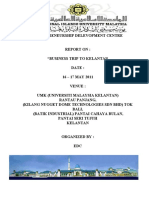 Report of Business Trip to Kelantan