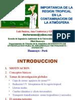 IMPORTANCIA DE LA REGION TROPICAL EN LA CONTAMINACION DE LA ATMÓSFERA