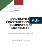 Contrato de Construccion Con Suministro de Materiales