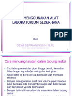 Cara Menggunakan Alat Laboratorium