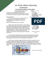 Aplikasi Fisika Dalam Teknologi Pertanian