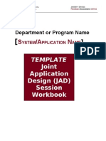 JAD Workbook Template