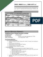 Resume-Sanjay Borad - MBA Fin, CWA and 5 Yrs Exp