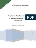 Risk Procurement Assignment - 090164