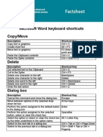 Word Shortcuts PDF