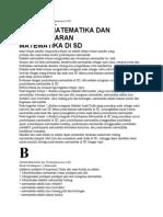 Hakikat Matematika Dan Pembelajarannya Di SD