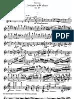 Jean Sibelius - Koncert za violinu u D-molu (solo partitura)