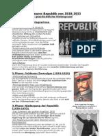 Die Weimarer Republik Von 1918