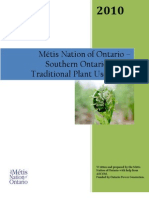 Metis Traditional Plant Use