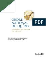 l'Ordre national du Québec 2011