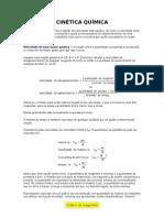 24038304 CINETICA QUIMICA Teoria e Exercicios
