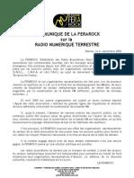 Communique de La Ferarock Sur La Radio Numerique Terrestre
