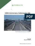 Notas de prensa de los 100 años de las 500 millas de Indianápolis