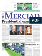 The Merciad, Sept. 28, 2005