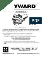 Hayward Super II Pump Model SP3005X7 Manual