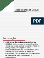 Cirurgia de Redesignação Sexual