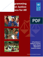 UNDP - Programming for Justice - Access for All