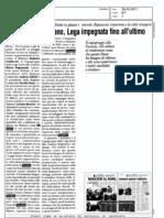 """Ballottaggio a Milano, Lega impegnata fino all'ultimo"""", La Padania, 28.05.2011"""