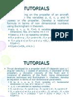 Tutorials (Dimensional Analysis)