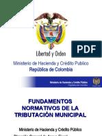 FUNDAMENTOS NORMATIVOS DE LA TRIBUTACIÓN MUNICIPAL