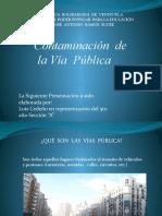 Contaminacion en Las Vias Publicas