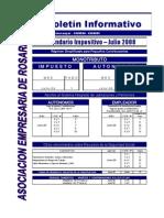 JULIO 2008 - BOLETIN INFORMATIVO AER