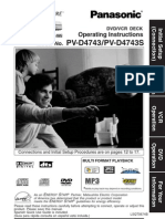 Panasonic Vcr Dvd Pv d4743 Pv d4743s