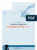 Gregorovius Passeggiate Vol 1
