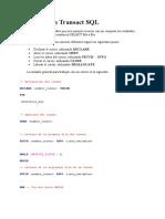 Cursores en Transact SQL