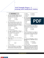 CSAT Logical Reasoning and Analytical Ability Sample Paper 2