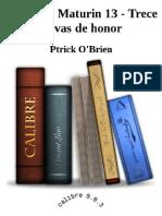 Aubrey y Maturin 13 - Trece Salvas de Honor - Ptrick O'Brien_2