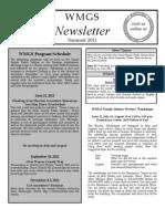 Summer 2011 WMGS Newsletter