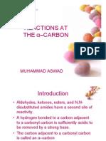 Reaksi Pada Karbon Alfa