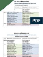Cronograma 2011-2 Curricula 2010