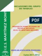 22. Grupos de Apoyo Entre Profesores (IES Martínez Montañés)