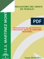 24. Evaluación de las Políticas Inclusivas en el IES Martínez Montañés