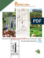 07 Extractor Aceites Esenciales Escala Semi Industrial