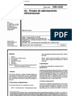 NBR 12007 - Mb 3336 - Solo - Ensaio de to Unidimensional
