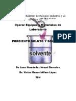 Porciento Soluto y Solvente (Oeml)