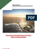 Program Narrative Report - 24 March 2011