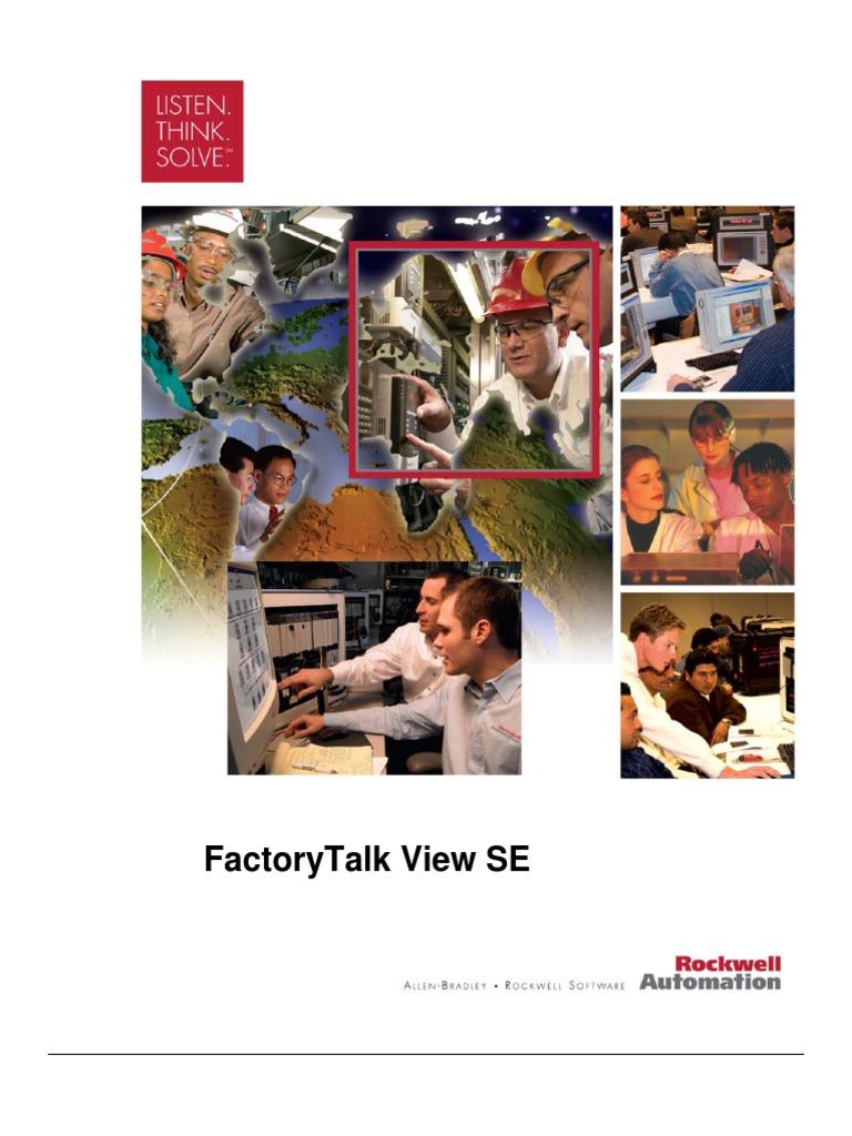 VIZ07+ +FactoryTalk+View+SE+Lab+Manual | Server (Computing