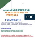 June Hongkong and Macau Packages via UO B,2011 SP