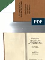 MIKASINOVICH Branko. Introduction to Yugoslav Literature