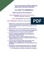 100-3 Aquarius Solar Fire Meditation II