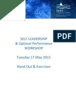 Handout - Self Leadership Workshop - 17May2011